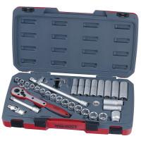 Teng Tools T1234 1/2 inch dr MM 34 Pieces Socket Set