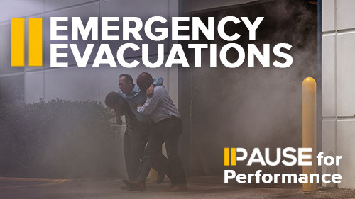 Pause for Performance: Emergency Evacuations