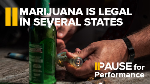 Pause for Performance: Marijuana is Legal in Several States