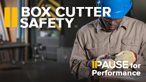 Pause for Performance - Box Cutter Safety