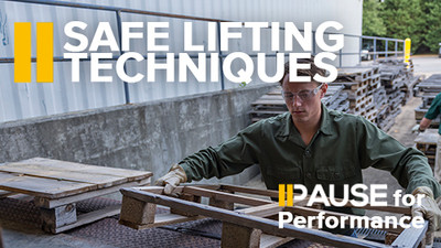 Pause for Performance: Safety Lifting Techniques