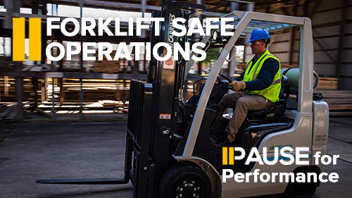 Pause for Performance: Forklift Safe Operations