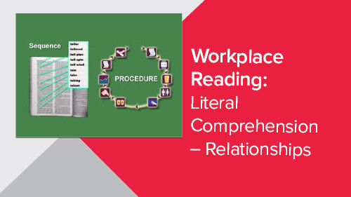 Workplace Reading: Literal Comprehension – Relationships