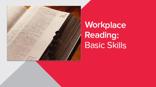 Workplace Reading: Basic Skills
