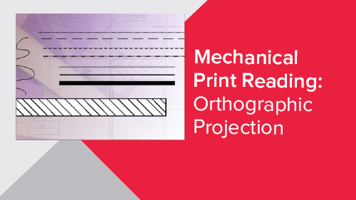 Mechanical Print Reading: Orthographic Projection