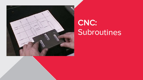 CNC: Subroutines
