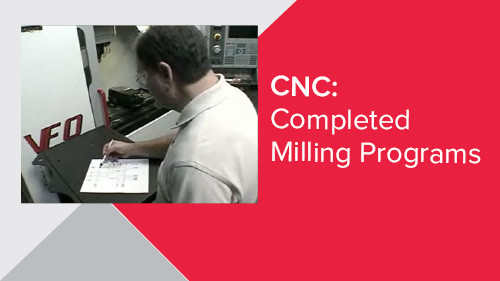 CNC: Completed Milling Programs
