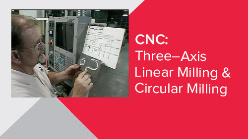 CNC: Three–Axis Linear Milling & Circular Milling
