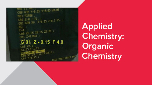 Applied Chemistry: Organic Chemistry