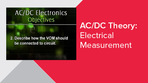 AC/DC Theory: Electrical Measurement