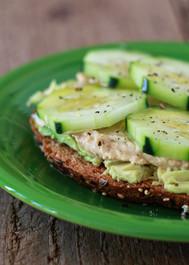 Cucumber Hummus Avocado Toast