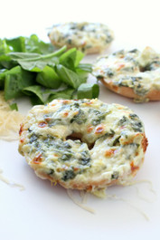 Spinach and Artichoke Bagel Melts