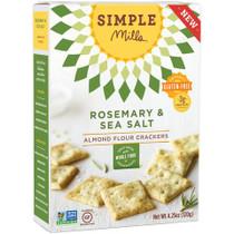 Rosemary & Sea Salt Almond Flour Crackers