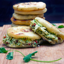 AREPAS WITH CHICKEN & AVOCADO