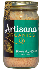 Almond Butter (14oz)  Raw 100% Organic Pure Ground California Almonds