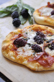 Proscuitto, Blackberry & Basil Pizza