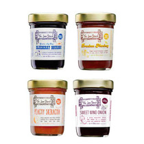 The Jam Stand 4 Pack - Blueberry Bourbon, Peachy Sriracha, Drunken Monkey & Swee Wino Onion