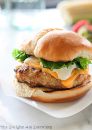 Cheddar Ranch Chicken Burgers