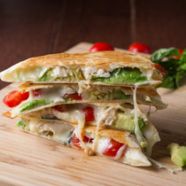 Avocado Caprese Chicken Quesadilla