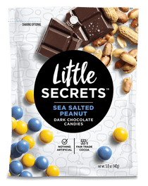 Little Secrets 5 oz Candies, 4 Pack (Sea Salted Peanut Dark Chocolate)
