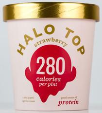 Halo Top Creamery - Strawberry Ice Cream - 1 Pint - Healthy!