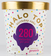 Halo Top Creamery - Birthday Cake Ice Cream - 1 Pint -- Healthy!