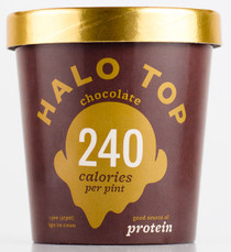 Halo Top Creamery - Chocolate Ice Cream - 1 Pint - Healthy!