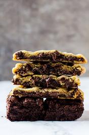 BROWNIE STUFFED CHOCOLATE CHIP COOKIES - One Dozen
