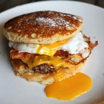 Sausage, Egg, and Pancake Sliders