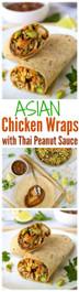 Asian Chicken Wraps with Thai Peanut Sauce