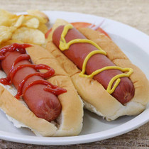 """Bison Hot Dogs, Skinless - 6"""" - pack of 8, 3.2 oz ea"""