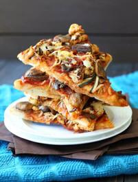 Vegan BBQ Veggie Pizza