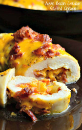 APPLE BACON CHEDDAR STUFFED CHICKEN - Serves 2