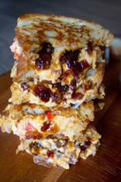 Pimento Cheese & Bacon Jam Grilled Cheese Sandwich