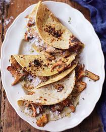 Chanterelle Mushroom Tacos