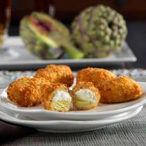 Breaded Parmesan Artichoke Hearts - 50 pieces per tray