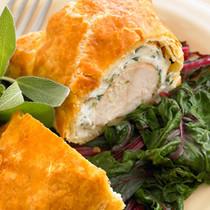 Mini Chicken Cordon Bleu in Puff Pastry - 50 pieces per tray