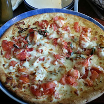 Maine Lobster Pizza w/ Roasted Garlic Pesto