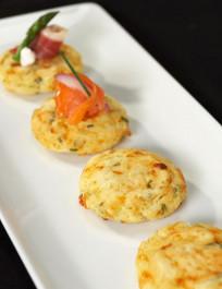 Artisan Corn & Jalapeno Jack Cakes (GF) - 32 pieces per tray