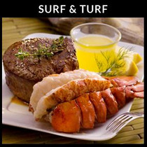 Surf & Turf - 4 Filet Mignons & Lobster Tails