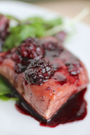 Blackberry Glazed Salmon -  8 Entrées 5.5 Oz each