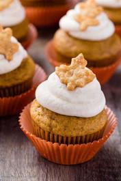 Pumpkin  Pie Cupcakes - 1 Dozen