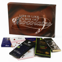 Chocolate Bars of the World Gift Box - Life is Like a Box of Chocolates