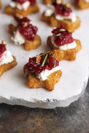 CRANBERRY PECAN GOAT CHEESE BITES - 50 pieces per tray