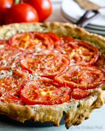 Goat Cheese and Tomato Tart with Rosemary and Mascarpone