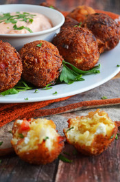CHEESY CRAB POPPERS  - 50 pieces per tray