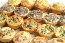 Mini Quiche Assortment - 100 pieces per tray
