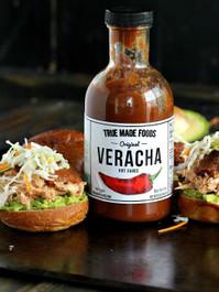 True Made Foods Hot Sauce Original Veracha, Paleo Friendly, Non-GMO, 18 oz Glass Bottle