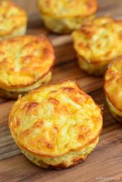 Mini Tuna and Sweet Corn Quiches - 45 pieces per tray