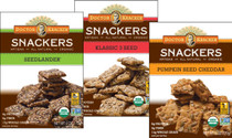 Organic Snackers - 3 Flavor Cracker Variety Bundle - Klassic 3 Seed, Pumpkin Seed Cheddar, and Seedlander (Pack of 3)